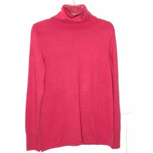 Ann Taylor Pink Turtleneck Sweater
